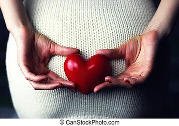 coeur, tenue femme