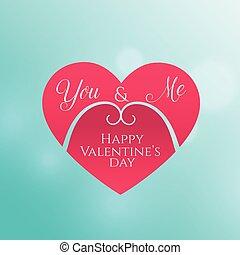 coeur, valentine, forme, fond, jour, heureux