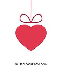 coeur, valentine, résumé, isolé, fond, blanc, jour
