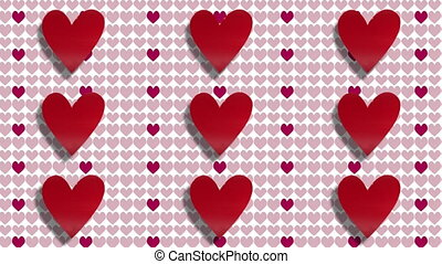 coeur, valentines, amour, jour, fond