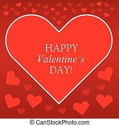coeur, valentines, fond, rouges