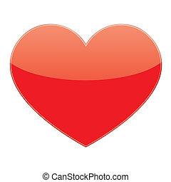 coeur, vecteur, amour, rouges