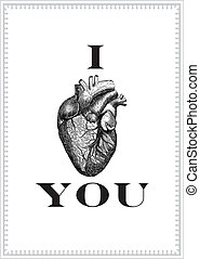 coeur, vecteur, fond