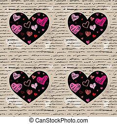 coeur, vecteur, love., illustration., arrière-plan.