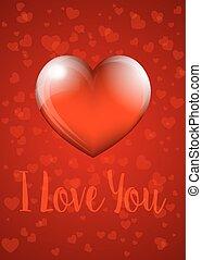 coeur, vous, -, amour, carte
