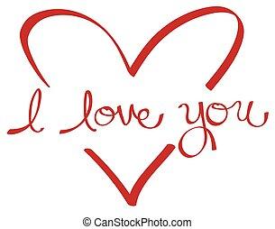 coeur, vous, amour, rouges