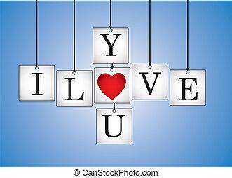 coeur, vous, concept, amour
