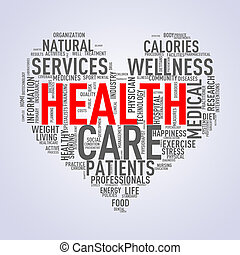 coeur, wordcloud, concept, santé, healthcare