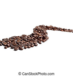 cofee beans road - bounch of roasted coffee beans mimic a ...