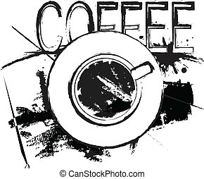 Cofee concept - Coffee concept top view