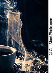 cofee, dobry, powonienie, filiżanka