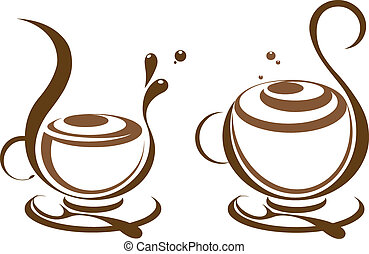 Cofee illustration (also available jpeg image made from this vector in the gallery)