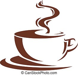 cofee - steaming cup of coffee brown