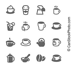 Coffe and tea Icons