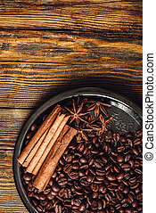 Coffe Beans and Spices.