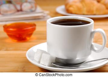 coffe, bril, nieuws