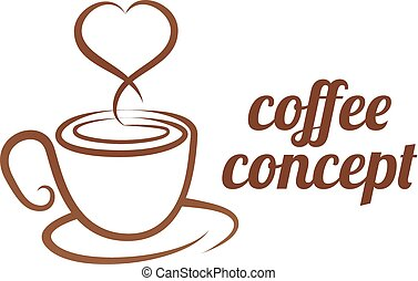 Coffe Cup Heart Concept