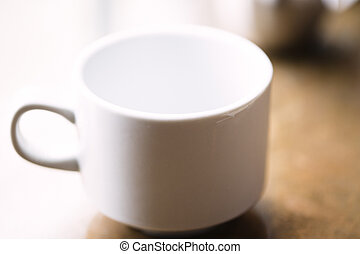 Coffe Cup on a table in natural light