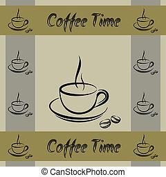 Coffe cup walpaper pattern