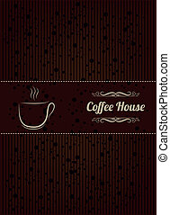 Coffe house menu cover