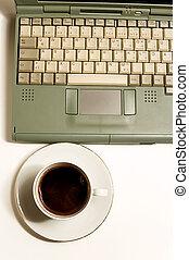 Coffe, laptop