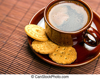 coffe with cookies