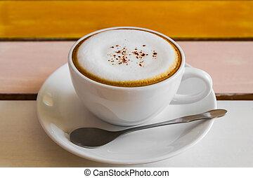 coffee., カップ, カプチーノ
