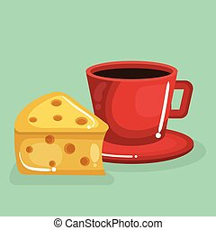 coffee and cheese delicious food breakfast menu