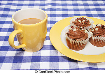 Coffee and cup cakes