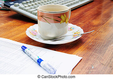 coffee and daily business atvititie
