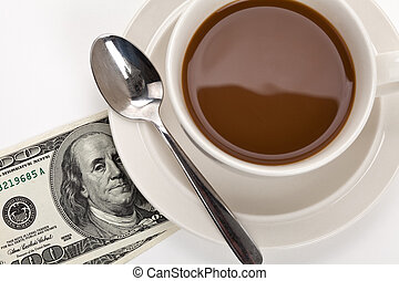 Coffee and dollar