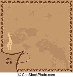 coffee and flight