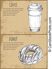 Coffee and Soft Drink Set Vector Illustration