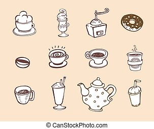 Coffee and tea design elements