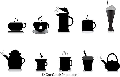coffee and tea illustrations