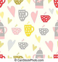 coffee and tea seamless pattern