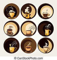 Coffee and tea symbols