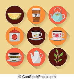 coffee and tea time set teapot coffee maker cups