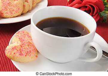 Coffee and Valentines Cookies