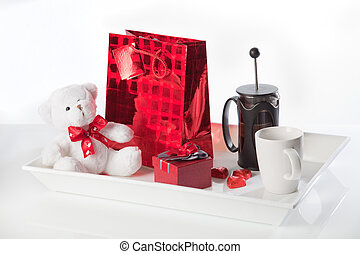 Coffee and valentine's gifts