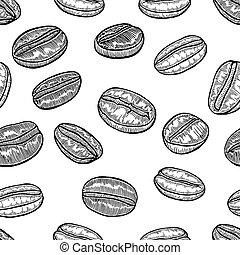 Coffee art seamless pattern