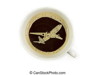 Coffee at the airport