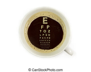 Coffee at the ophthalmologist