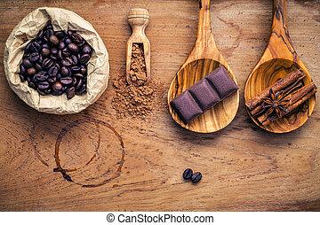 Coffee background and menu design