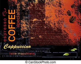 Coffee background - Dark grunge coffee wallpaper with...