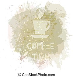 Coffee background or banner, flayer, web, print template.