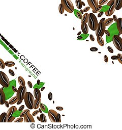 Coffee background with coffee beans