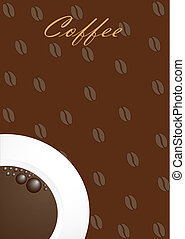 Coffee background with white cup