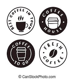 Coffee badges. Logotypes, labels.