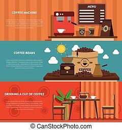 Coffee Bar 2 Flat Horizontal Banners